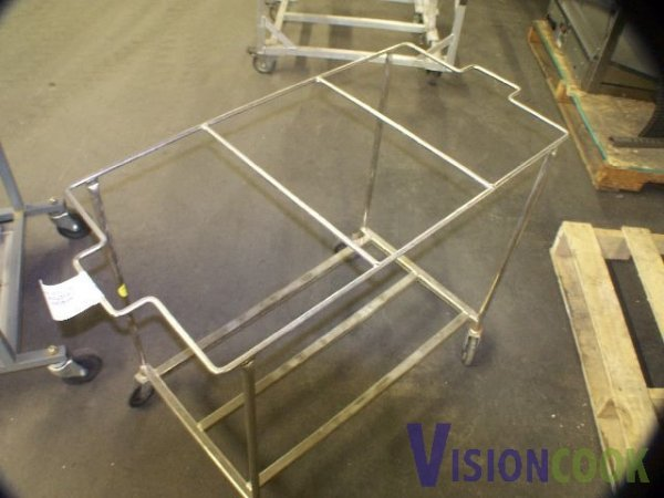 208: Used Rolling laundry / Bus Rack Cart