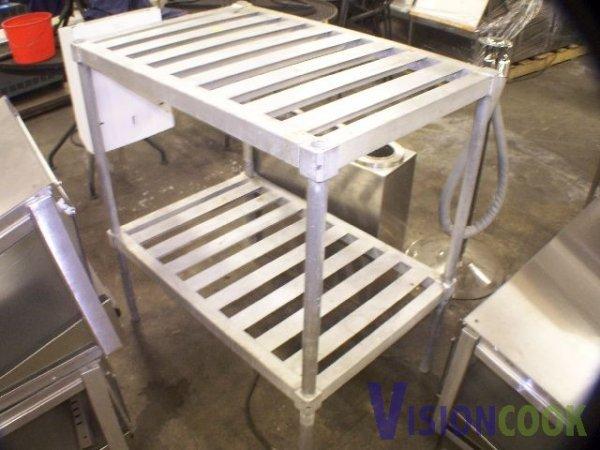 214: Aluminum Storage rack 4 dry or cold food