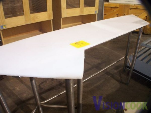 821: USed polytop Cutting Prep Table Custom Size