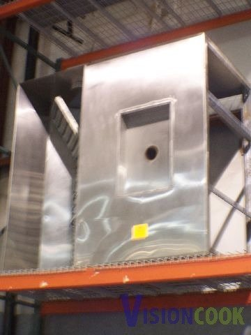 "822: Used Commercial Stainless Steel Exhaust Hood 62"" x"