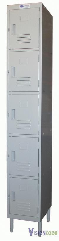 """1508: New 5 Doors Locker, 12""""W x 16""""D x 77""""H"""