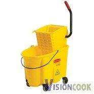 1523: New Rubbermaid Yellow Mop Bucket(35Qt.) & Wringer