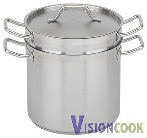 902: New Royal S/S Double Boiler w/Lid, 12Qt.