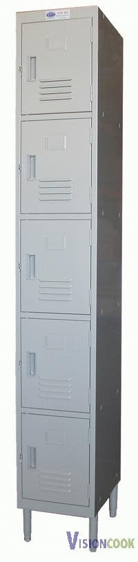 "915: New 5 Doors Locker, 12""W x 16""D x 77""H"