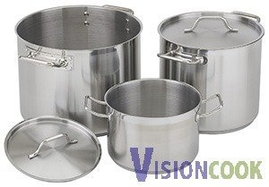 917: New Royal Stainless Soup Stock Pot w/ Lid 80Qt
