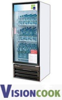1302: New 1 Glass Door Refrigerator Cooler Merchandiser
