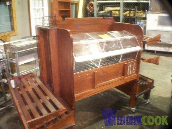 1322: Wooden Bakery Candy Wine Bagel Display Rack