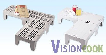 """1702: New Cambro Slot Brown Cooler Dunnage Rack 12""""x21"""""""