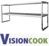 "1712: New Cold Table & Worktable Overshelf 12""x60""x15"""