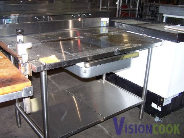 405: 4' Stainless Commercial Work Table w/ Drawer