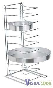414: New Royal 11 Shelf Pizza Tray Stand, 2 1/4 Spacing