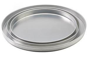 816: New Aluminum 1in. Deep Pizza Pans 10in. Diameter l