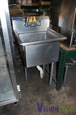 1201: Commercial Stainless Single Computer Sink