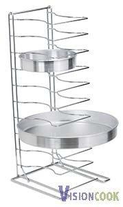 1609: New Royal 11 Shelf Pizza Tray Stand, 2 1/4 Spacin