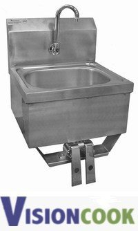 1902: New Knee Pedal Operated Stainless Steel Hand Sink