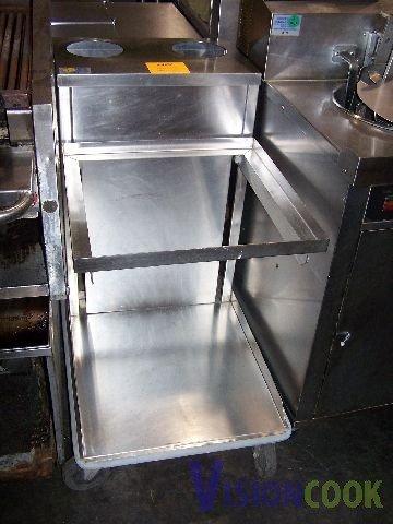 1912: Commercial Stainless Steel Serving Tray Dispenser