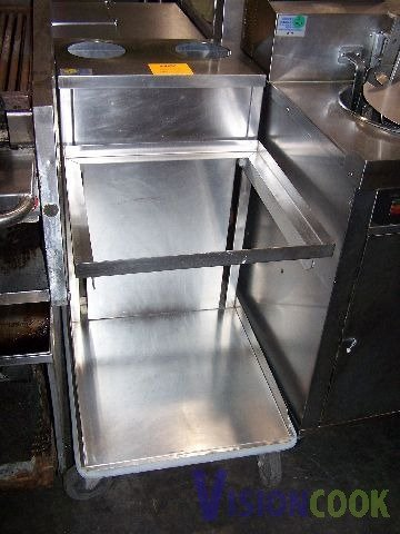 11: Commercial Stainless Steel Serving Tray Dispenser