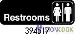 24: New Restroom Unisex Sign 3 x 9 - black