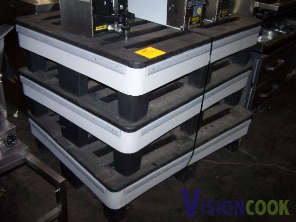 312: Lot of 3 Cooler Dunnage Display Storage Utility Ra