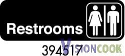 720: New Restroom Bathroom Sign Unisex Mens / Womens