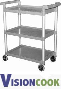 320: New Plastic Restaurant Bus Utility Prep Cart