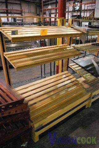 623: 48in Wooden Bakery Display Shelf