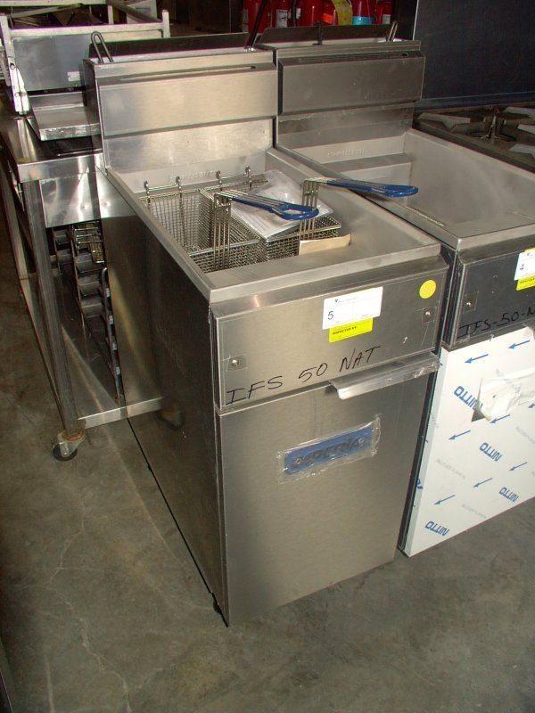 5: IMPERIAL 50lb GAS FRYER!  BRAND NEW!