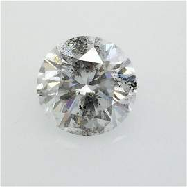 7.20 CT Round J I2 Loose Diamond! GIA