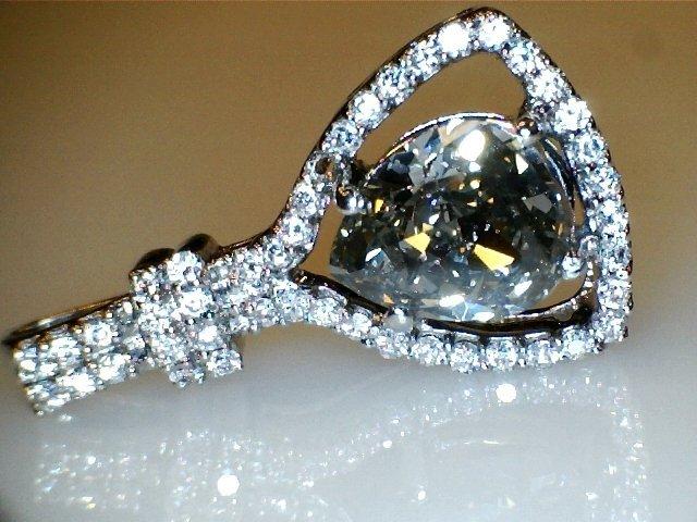 1.14 CT Pear SI2 Green Fancy Loose Diamond! GIA