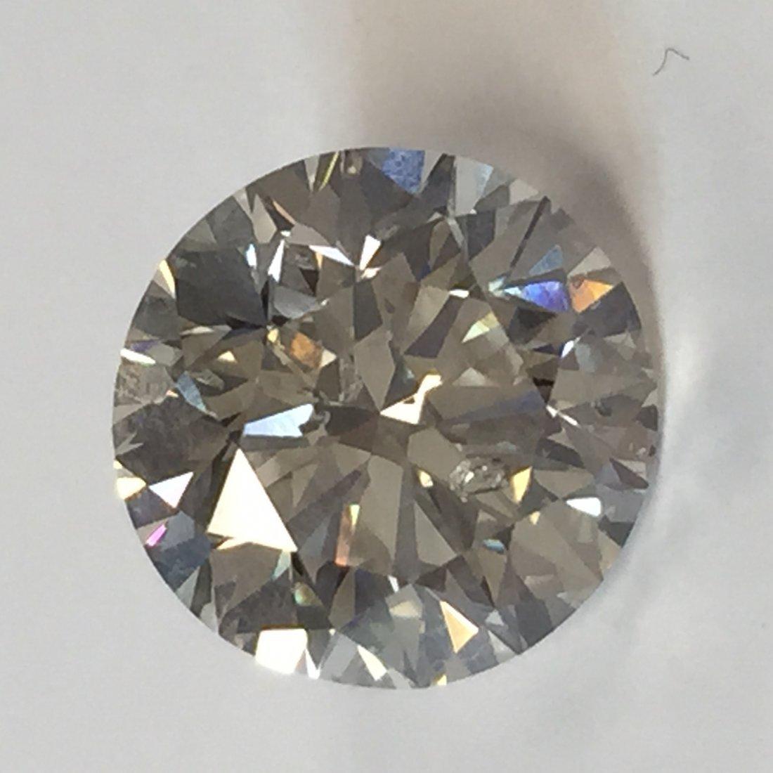 4.09 CT Round L I1 Loose Diamond! GIA