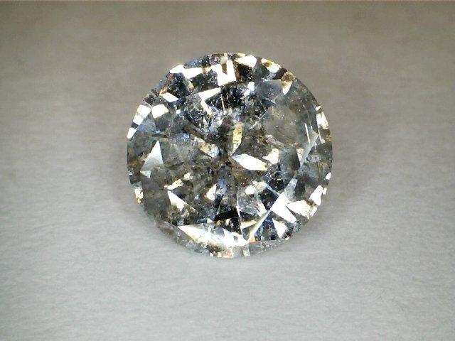 1.11 CT Round I2 Gray Fancy Loose Diamond! GIA