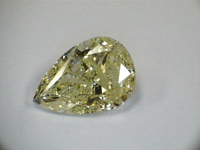 3.31 CT Pear  Yellow Fancy Loose Diamond! GIA