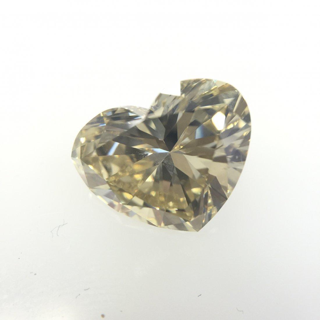 3.55 CT Heart VS1 Yellow Fancy Loose Diamond! GIA