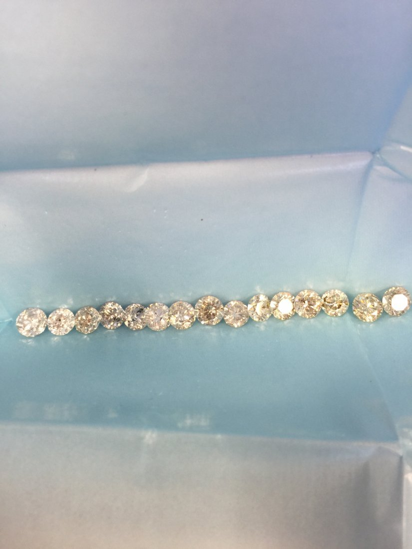 15 PCS 1-1.45 CTS 17.32CT WHITE & SHINY DIAMONDS PARCEL