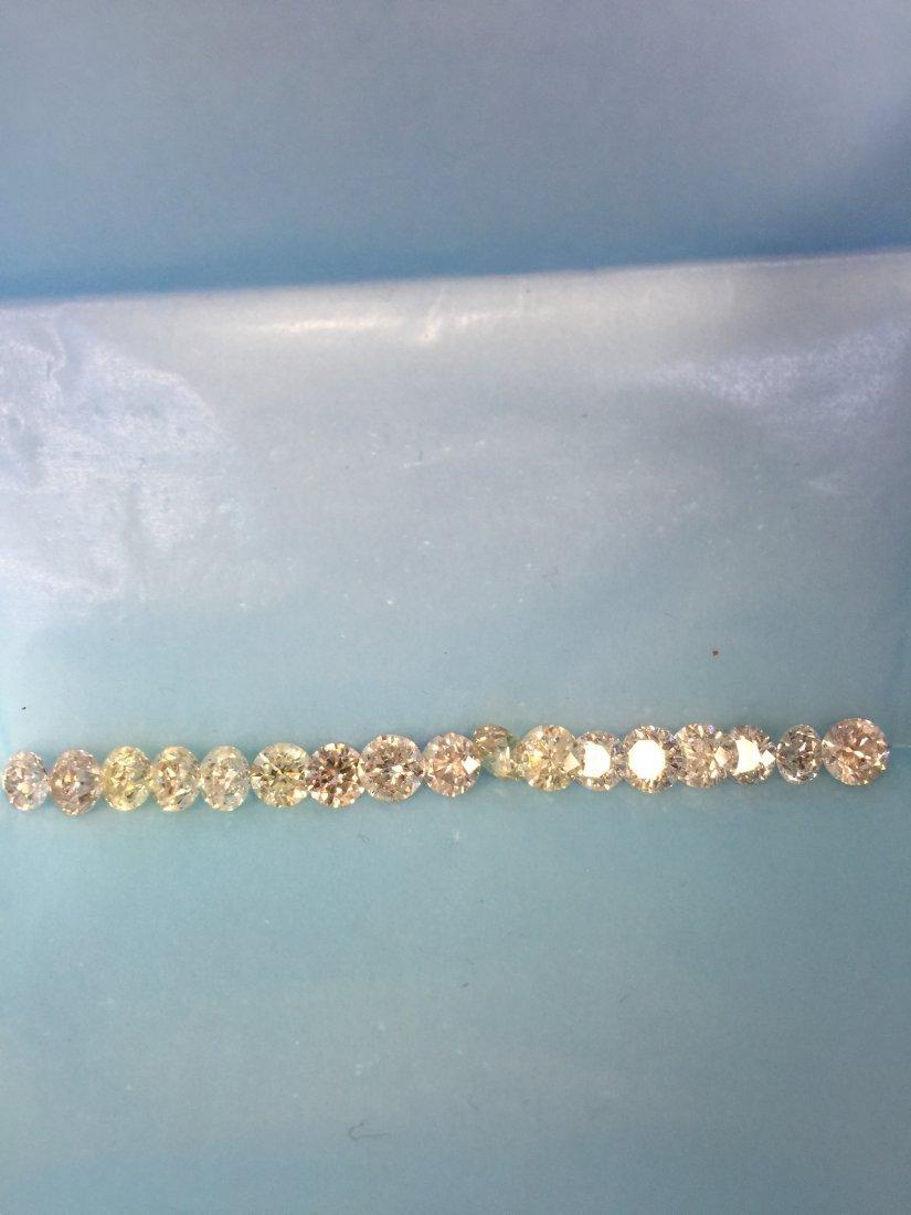 17 PCS .70-.98CTS 14.65CT WHITE & SHINY DIAMONDS PARCEL