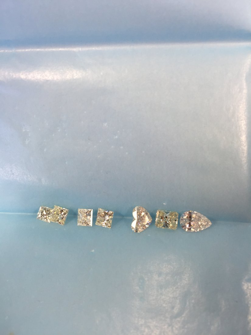 7 PCS .50-.94CT 4.63CT FANCY CUT SHINY DIAMONDS PARCEL