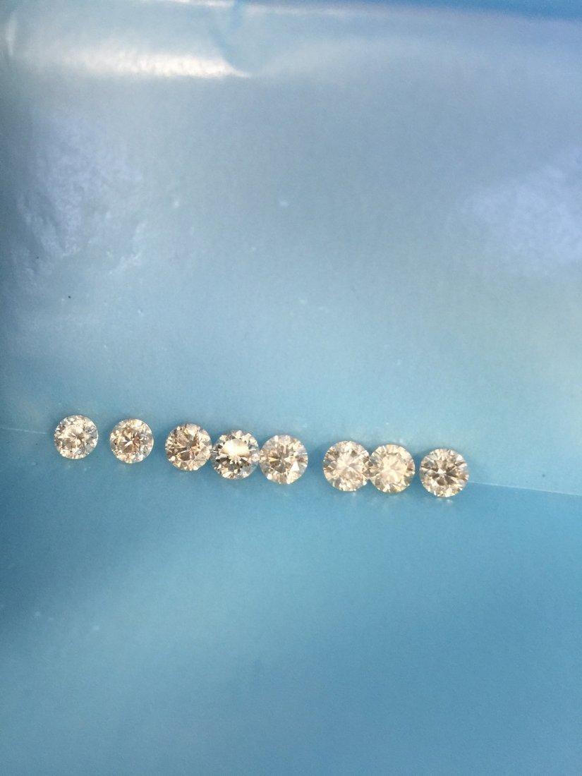 8 PCS .50-.70CT 4.50CT NICE & SHINY DIAMONDS PARCEL