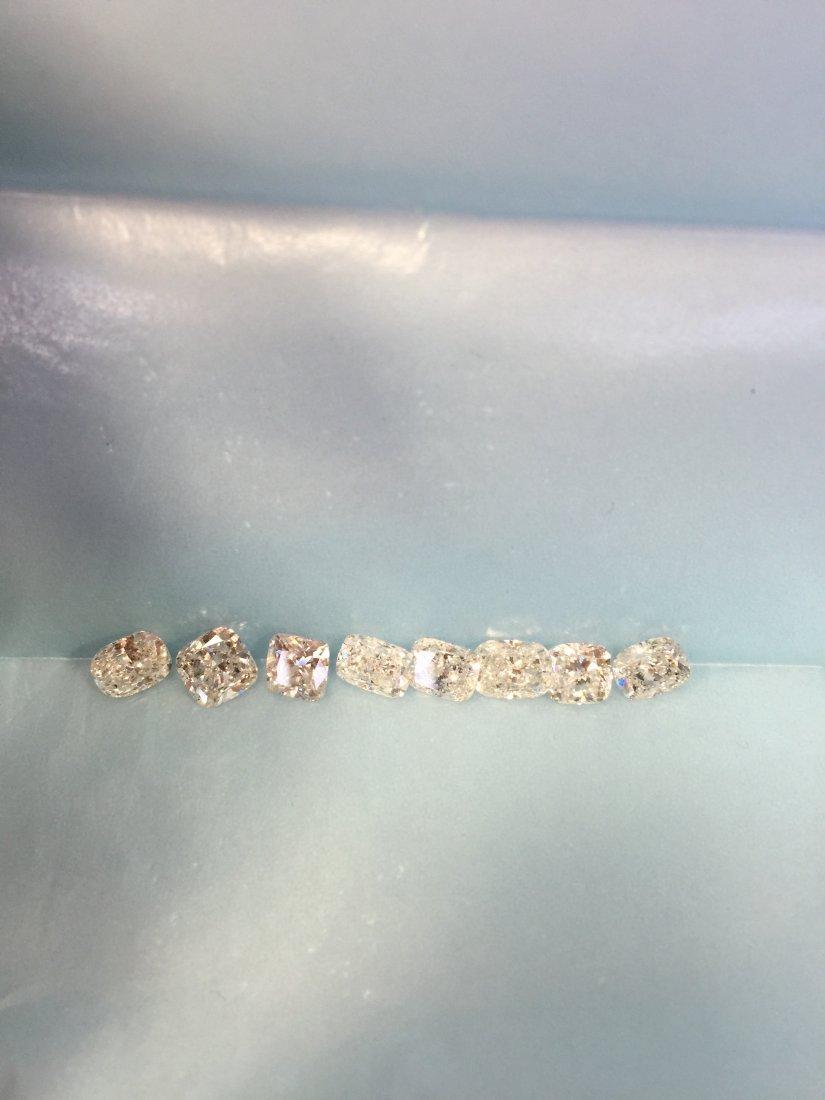 8 PCS 1CT & UP 8.18CT WHITE CLEAN SHINY DIAMONDS PARCEL