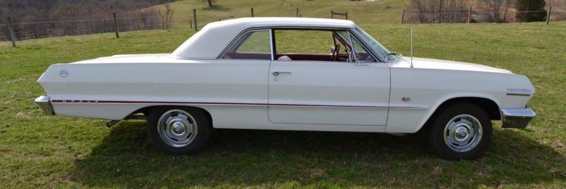 Restored 1963 Chevrolet Impala 2dr., crate 350ci/330hp
