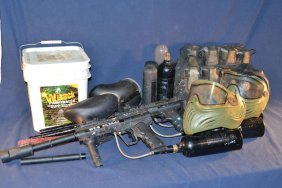 Paintball Equipment: Three Guns, Masks, Tanks, Ammo,