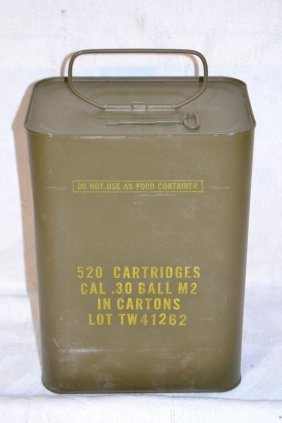 520 Cartridges Cal .30 Ball M2 Ammo In Cartons Lot