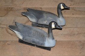 Two Flambeau Goose Decoys