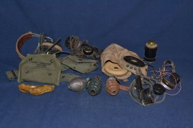 Military Items: Grenade Launcher, Three Dummy Grenades,
