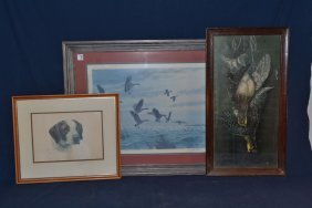 Three Framed Hunting Related Prints