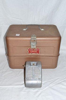 Vintage Little Brown Chest Cooler, Eprad Drive-in Movie