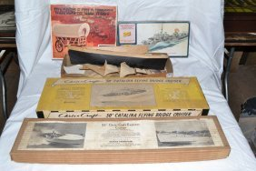 Models: Two Wooden Chris Craft Cruisers, Wooden Sail