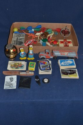 Collection Of Children's Items: Tootsietoy Truck,