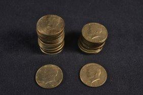 33 Kennedy Half Dollars: 20-1965, 13-1966