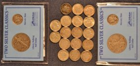 17 Roosevelt Silver Dimes; Two Littleton Coin Co.