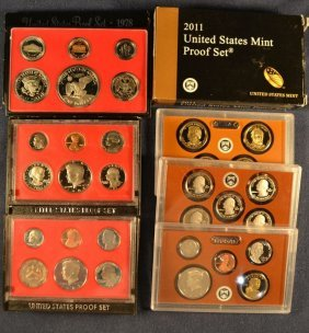 Four Us Proof Sets: 1978, 1981, 1982, 2011